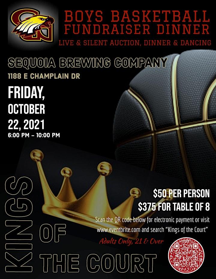 Clovis West Boys Basketball Fundraiser Dinner - Kings of the Court image