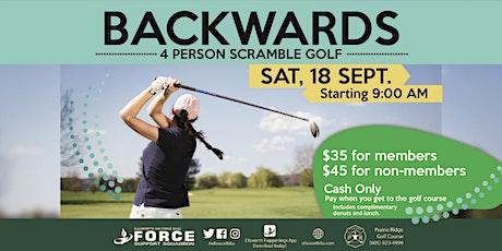 EAFB  Backwards Golf 4 Person Scramble tickets