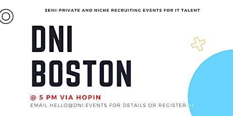 DNI Boston 9/28 Talent Ticket tickets