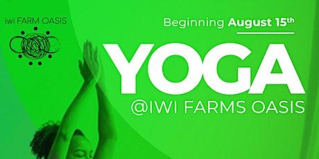 Yoga Class at iwi Farm Oasis tickets