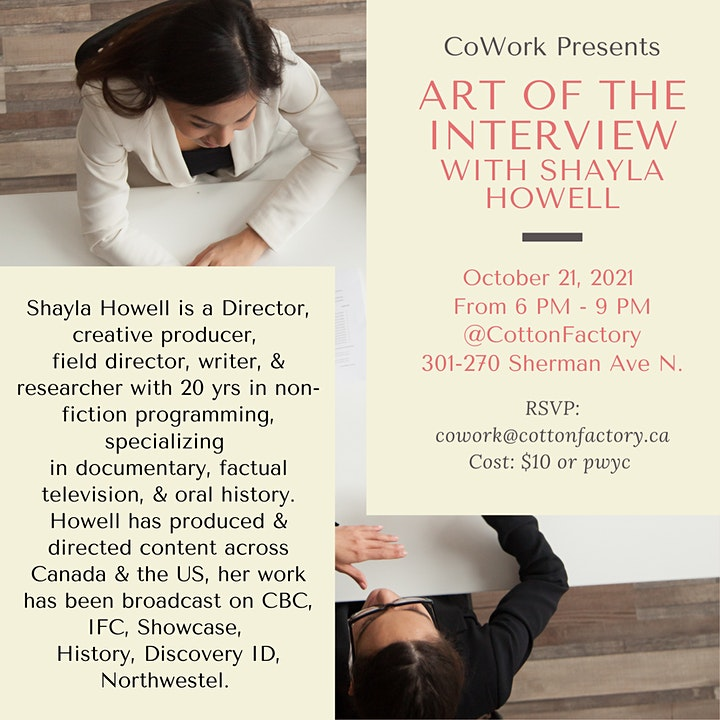 ART OF THE INTERVIEW with SHAYLA HOWELL image