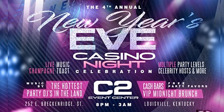 4th ANNUAL 2021 NEW YEAR'S EVE CASINO NIGHT CELEBRATION – Louisville, KY tickets