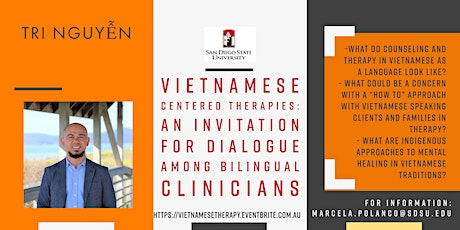 Vietnamese Centered Therapies: A dialogue among bilingual clinicians tickets