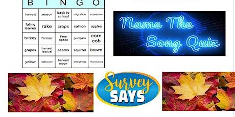 Fall  Fun Virtual Game Night (word bingo, Survey Says, Name that song) tickets