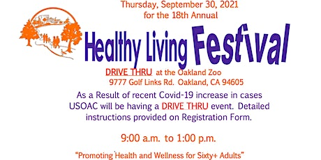 18th Annual Healthy Living Festival - Free Drive Thru Event tickets