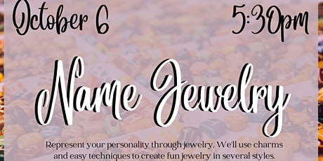 Name Jewelry for Teens (NEA Big Read: Nacogdoches) tickets