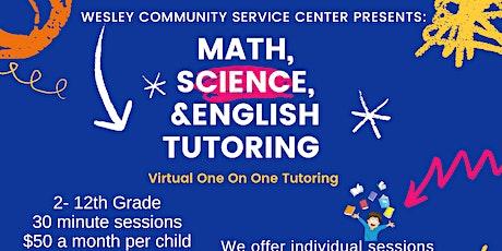 Wesley Community Service Center -Virtual Tutoring Program tickets