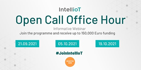 IntellIoT Office Hour - Open Call 2021 tickets