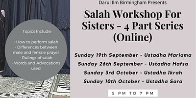 Salah Workshop For Sisters (online)