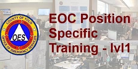 EOC Position Specific Training - level 1, Planning & Intel tickets