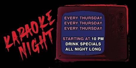 Karaoke every THURSDAY tickets