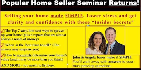 Home Seller Seminar - Sat, Sept 25  9-11 am tickets