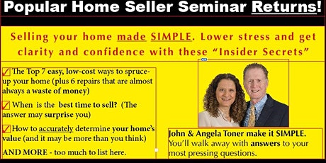 Home Seller Seminar - Sat, Sept 25  2-4 PM tickets
