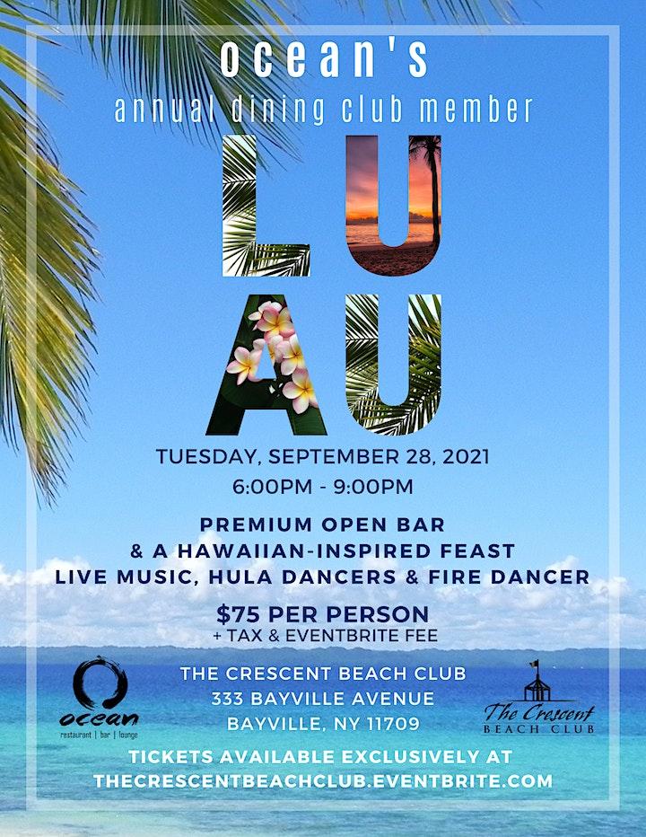Ocean's Annual Dining Club Luau image