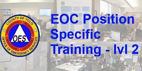 EOC Position Specific Training - level 2, Planning & Intel tickets