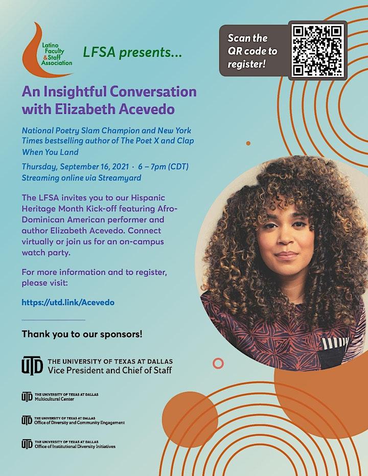 An Insightful Conversation with Elizabeth Acevedo & the UTD Community image