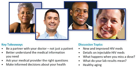 Webinar: Take Charge of Your Health: Self Advocacy, Aging with HIV 11/11/21 tickets