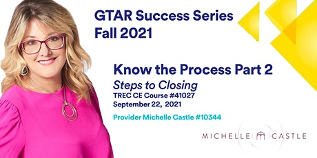 GTAR SUCCESS SERIES FALL 2021 | Know the Process (Part 2) tickets