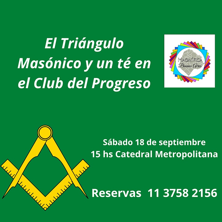 Imagen de El triángulo Masónico de la ciudad y un café  en el Club del Progreso