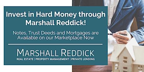 Invest in Hard Money through Marshall Reddick! tickets