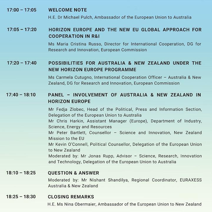 Horizon Europe Launch in Australia & New Zealand image