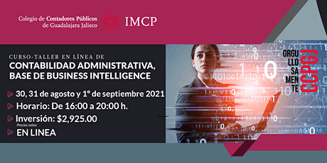 Curso Taller de Contabilidad Administrativa en base a Business Intelligence boletos