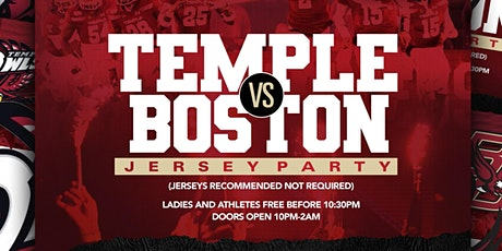 Temple vs Boston College Afterparty: Jersey Edition tickets