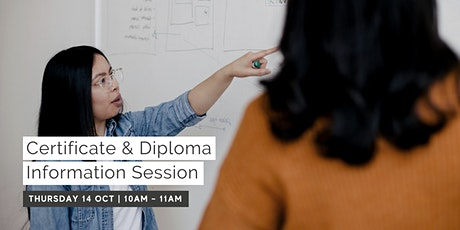 October Information Session - Certificate & Diploma Level tickets