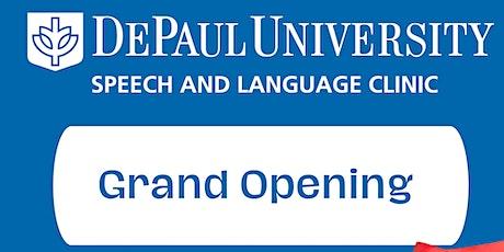 DePaul University Speech and Language Clinic Grand Opening tickets