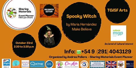 """TGISF  Arts Storytelling session for teenagers """"Spooky Witch"""" boletos"""