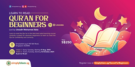 Learn to Read - Qur'an for Beginners tickets