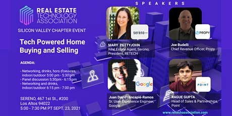 Real Estate Technology Association - Silicon Valley Chapter Event tickets