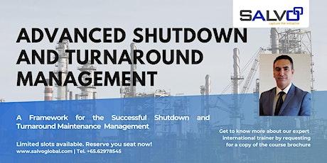 Advanced Shutdown and Turnaround Management tickets