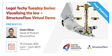 Legal Techy Tuesday Series: Visualising the law-StructureFlow Virtual Demo tickets