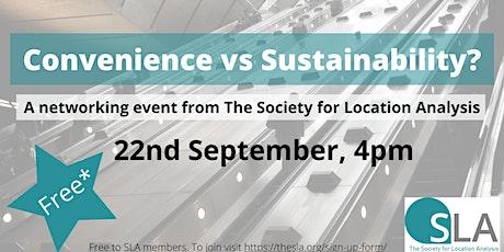 Convenience vs Sustainability? tickets