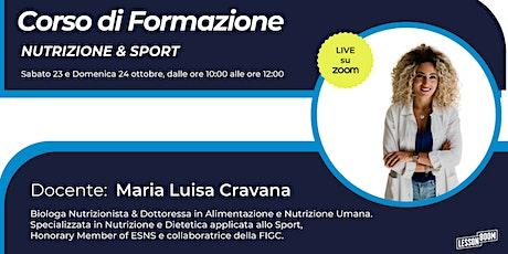 Corso di Formazione Live Nutrizione & Sport biglietti