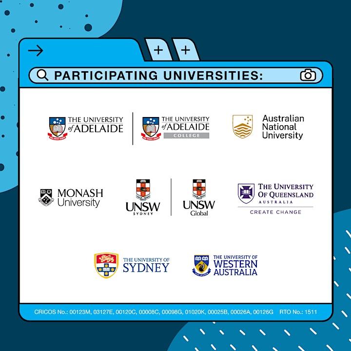 Australia Top Universities - Virtual Application Day 2021 image