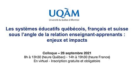 Colloque UQAM - La relation enseignant-apprenants : enjeux et impacts billets