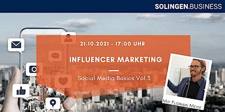 Influencer Marketing - Social Media Basics Vol.3 Tickets
