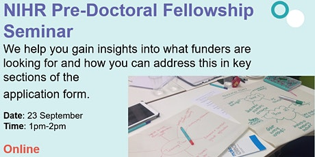 Introduction to NIHR pre-doctoral fellowship schemes tickets