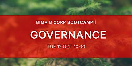 BIMA B-Corp Bootcamp - Governance tickets