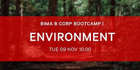 BIMA B-Corp Bootcamp - Environment tickets