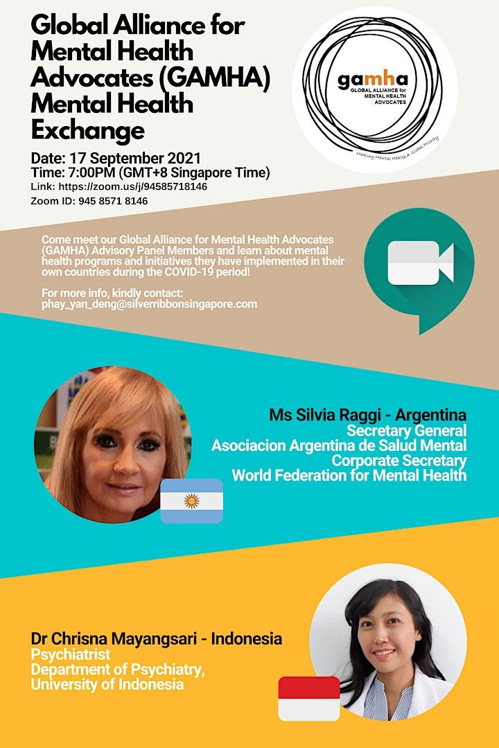 Global Alliance for Mental Health Advocates (GAMHA) Mental Health Exchange image