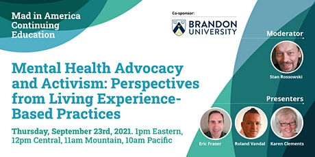 Mental Health Advocacy and Activism: Perspectives from Living Experience tickets