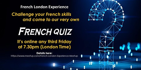 [online] FRENCH QUIZ - Quiz about French, the French and France! Tickets
