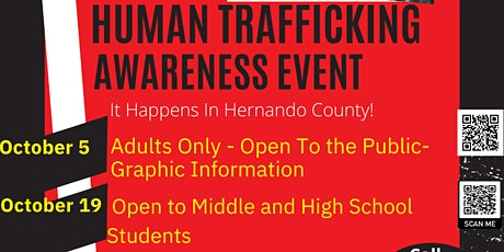 Human Trafficking Awareness for Middle and High School Teens tickets
