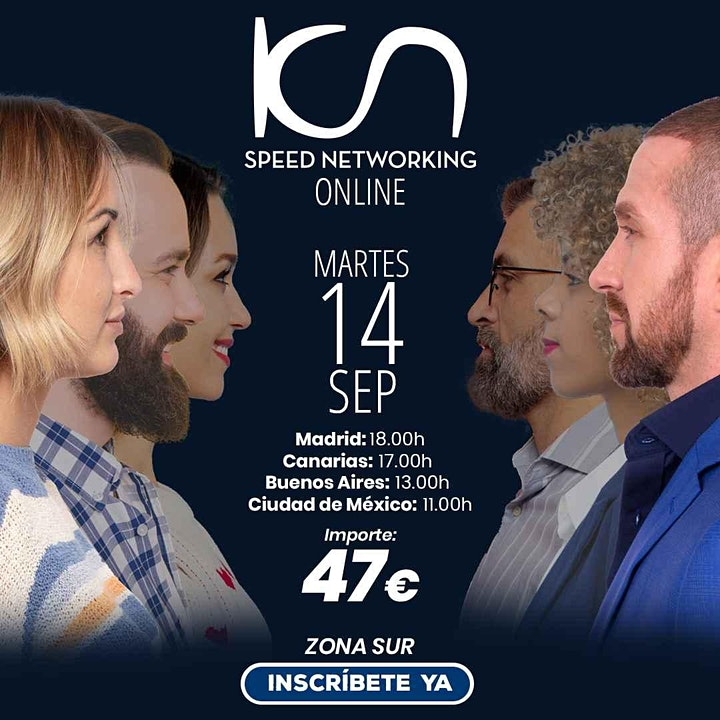 Imagen de KCN Speed Networking Online Zona Sur 14 SEP