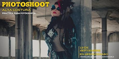 Photoshoot de alta costura: encuentro y práctica de fotógrafos entradas