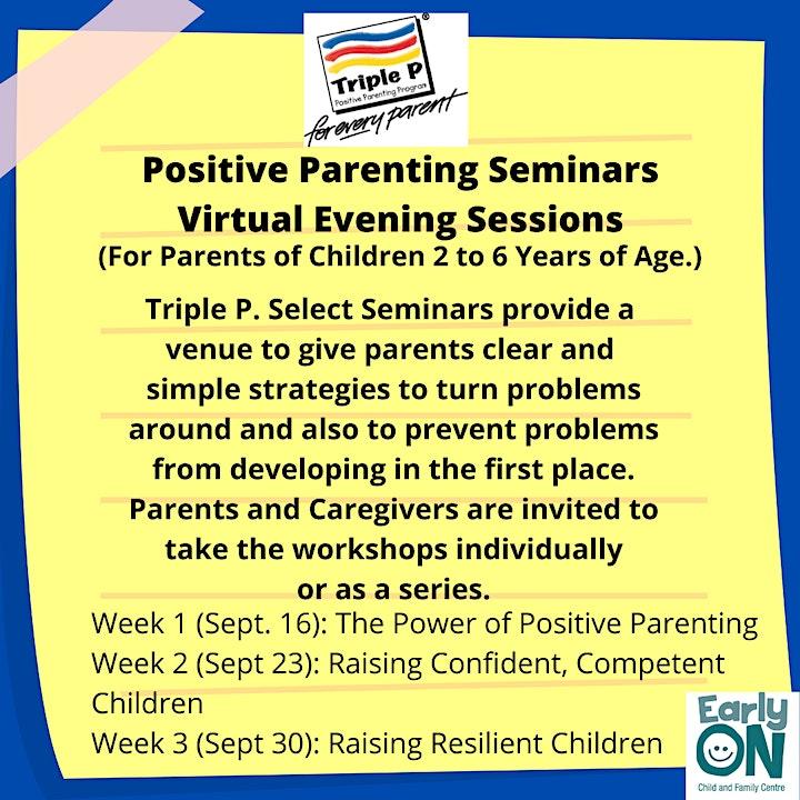 Positive Parenting Seminar~Raising Resilient Children image