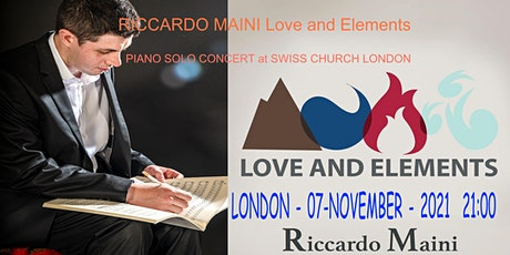 Love and Elements Riccardo Maini piano concert tickets